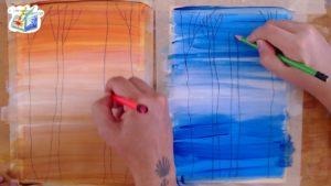 come dipingere alberi d'atmosfera