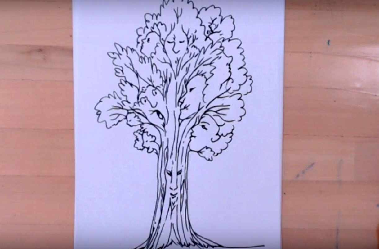 Disegno albero degli elfi