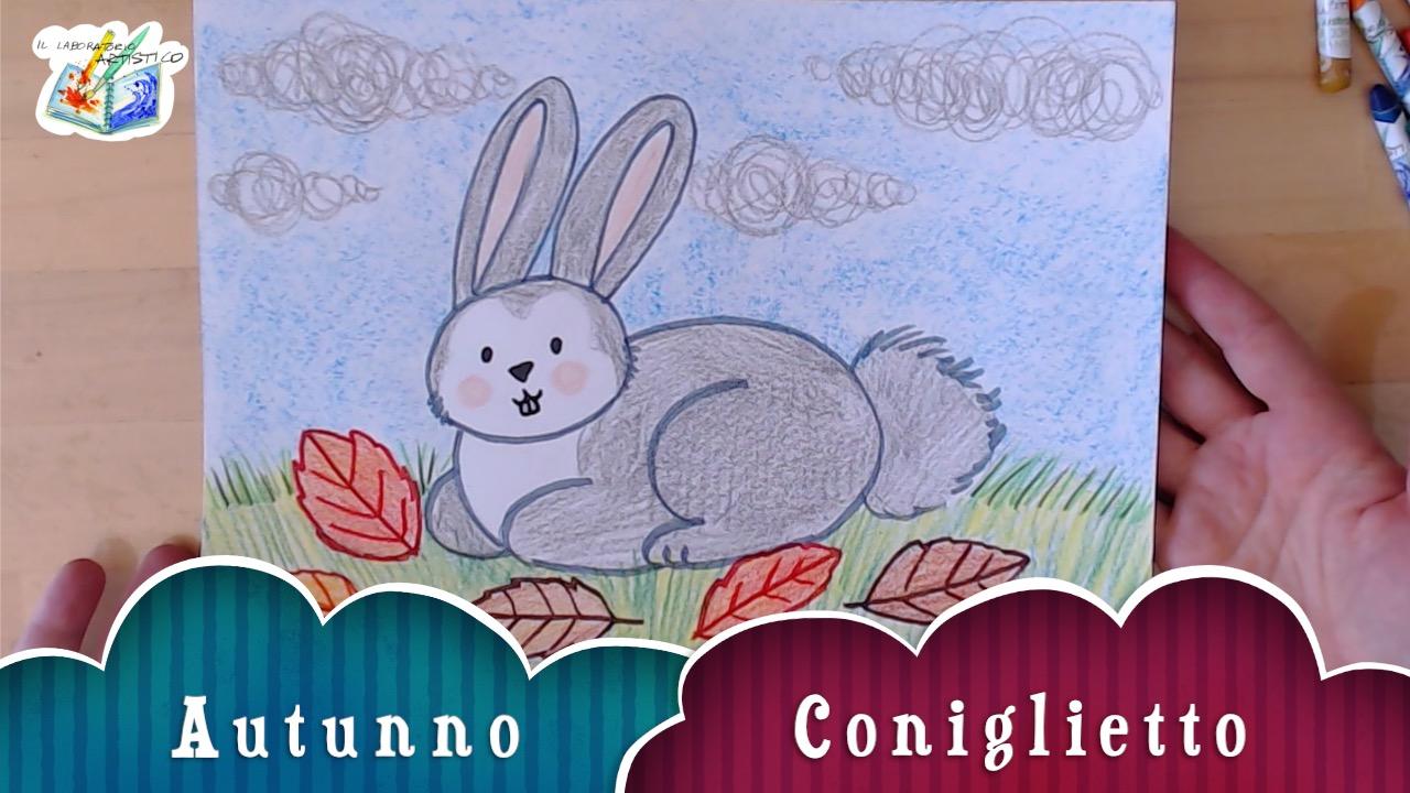 come disegnare coniglio d'autunno