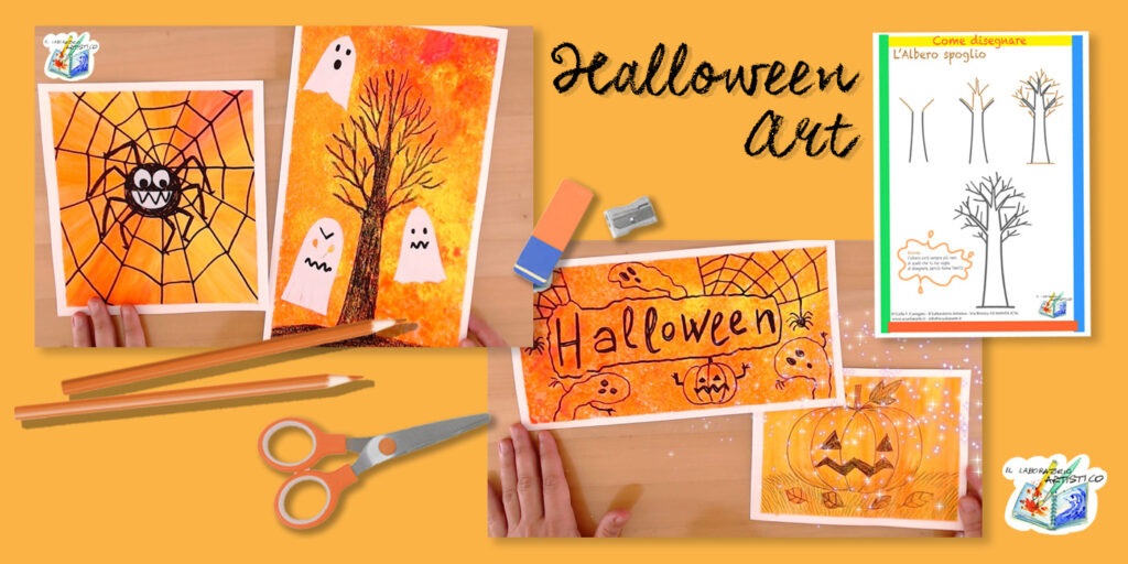 Halloween Art: colori caldi