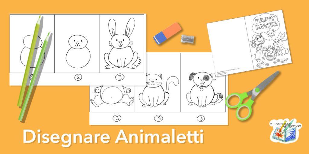 Disegnare gli animali: coniglietto Pasquale