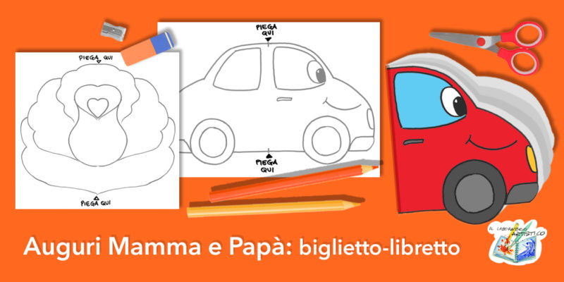 Auguri mamma papà, biglietto-libretto