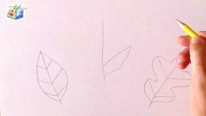come disegnare le foglie
