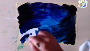 Dipingere lo sfondo con le tempere