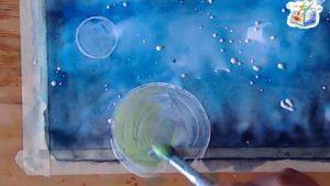 Dipingere i pianeti ad acquerello