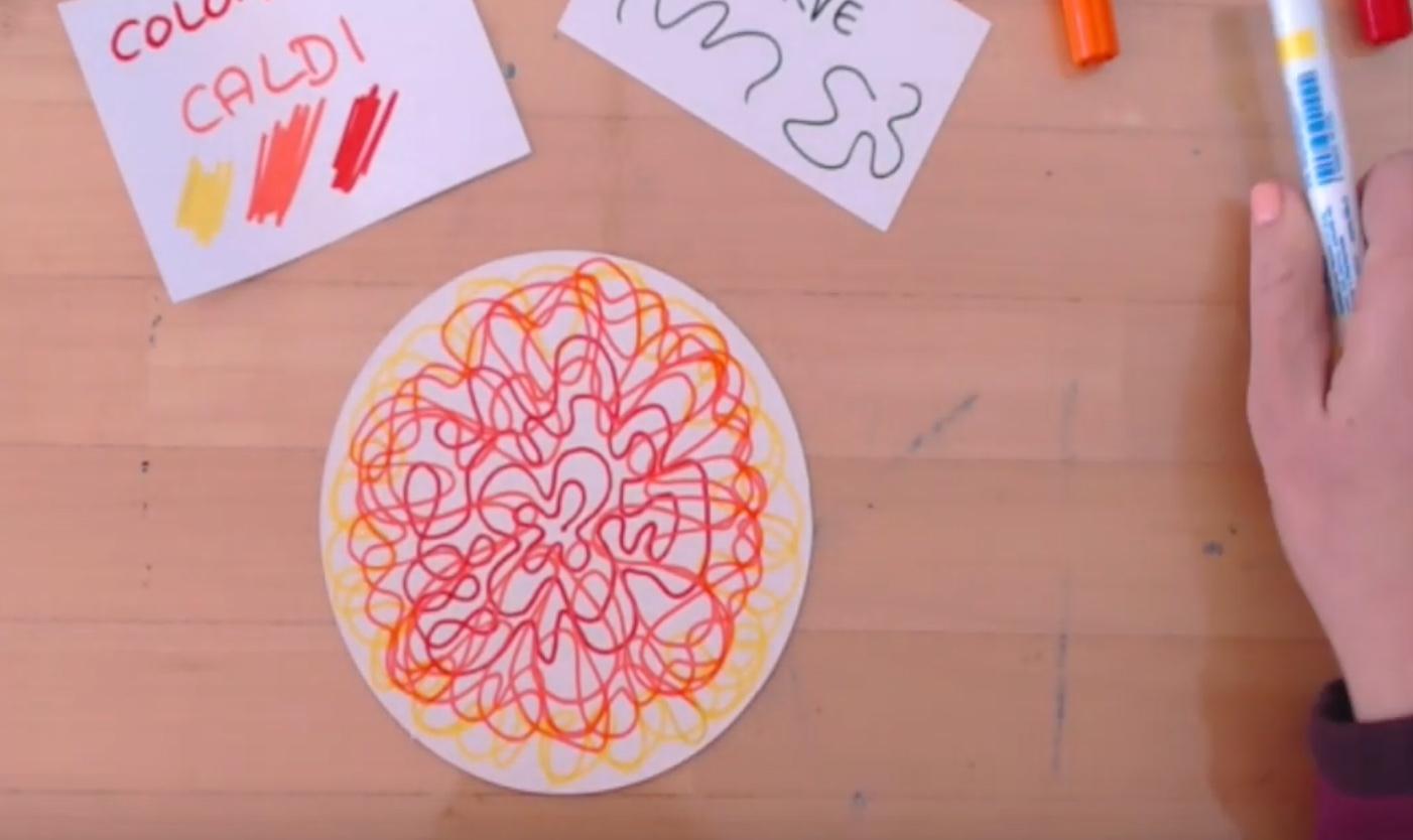 Mandala colori e linee