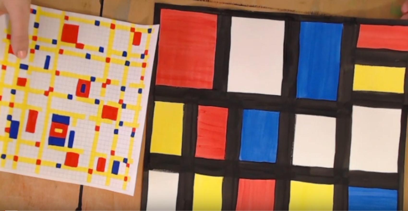 colori primari con mondrian