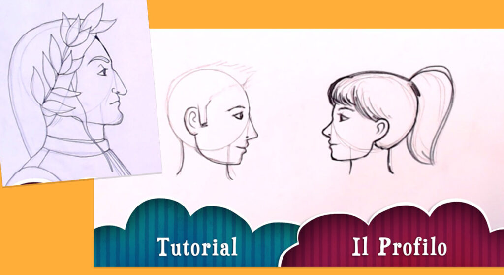 Come disegnare un ritratto di profilo